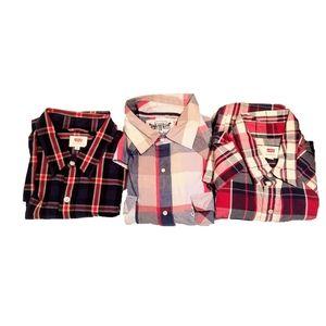 Bundle Of 3 Levi's Button Down Long Sleeve Shirts